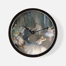 Degas - Rehearsal Onstage Wall Clock