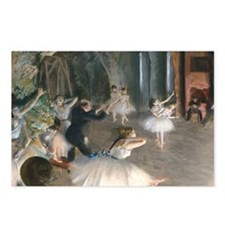 Degas - Rehearsal Onstage Postcards (Package of 8)