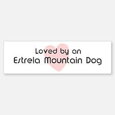 Loved by a Estrela Mountain D Bumper Bumper Bumper Sticker