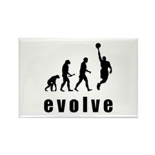 Evolve Basketball Rectangle Magnet