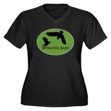 Bywater Baby Crows Women's Plus Size V-Neck Dark T