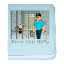 Free the 99% baby blanket