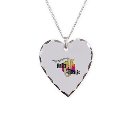 Tuba Rocks Necklace Heart Charm