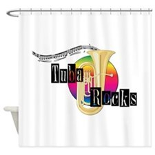 Tuba Rocks Shower Curtain