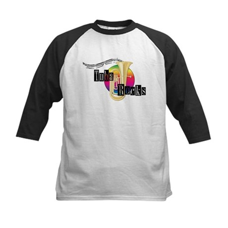 Tuba Rocks Kids Baseball Jersey
