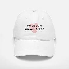 Loved by a Brussels Griffon Baseball Baseball Cap