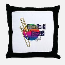 Trombone Rocks Throw Pillow