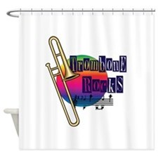 Trombone Rocks Shower Curtain
