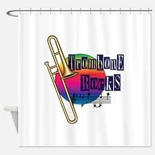 Trombone Rocks Shower Curtain