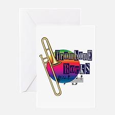 Trombone Rocks Greeting Card