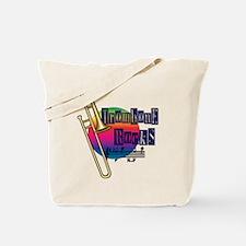 Trombone Rocks Tote Bag