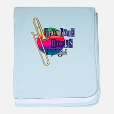 Trombone Rocks baby blanket