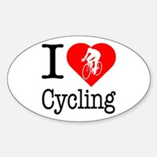 I Love Cycling Decal