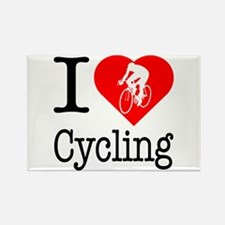 I Love Cycling Rectangle Magnet