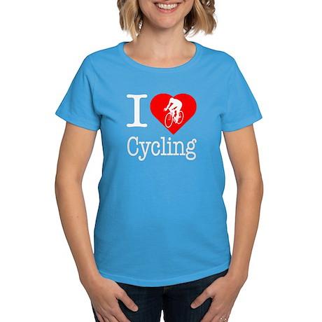 I Love Cycling Women's Dark T-Shirt