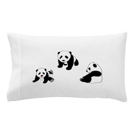 Pandas At Play Pillow Case