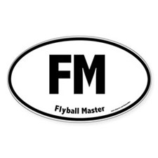FM, Flyball Master, 5,000, Oval Decal