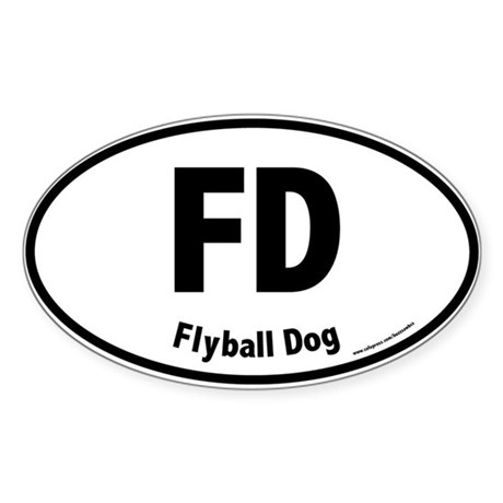 FD, Flyball Dog, 20, Oval Sticker