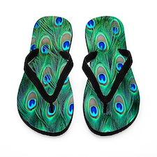 Peacock Flip Flops