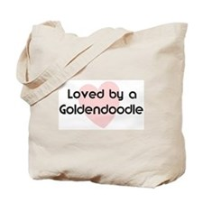 Loved by a Goldendoodle Tote Bag