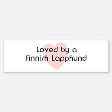 Loved by a Finnish Lapphund Bumper Bumper Bumper Sticker