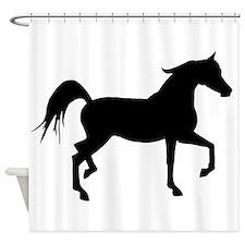 Arabian Horse Silhouette Shower Curtain