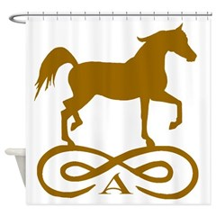 Gold Infinity Arabian Shower Curtain