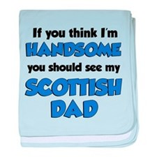Handsome Scottish Dad baby blanket