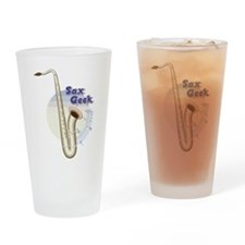 Saxophone - Sax Geek Drinking Glass