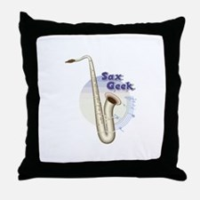 Saxophone - Sax Geek Throw Pillow