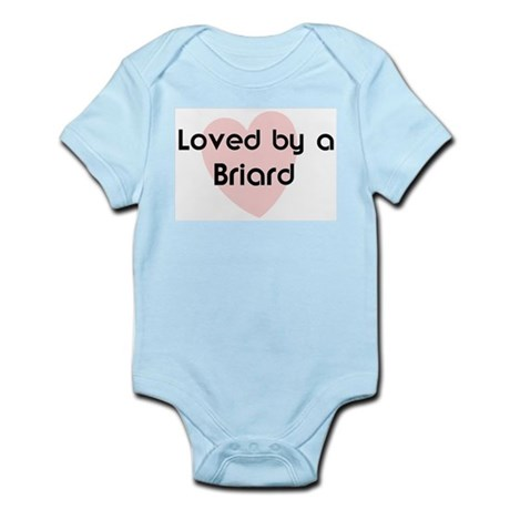 Loved by a Briard Infant Creeper