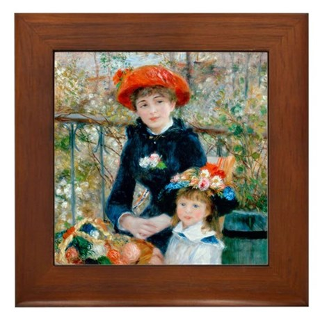 Renoir - Two Sisters Framed Tile