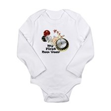 Funny Vintage happy new year Long Sleeve Infant Bodysuit