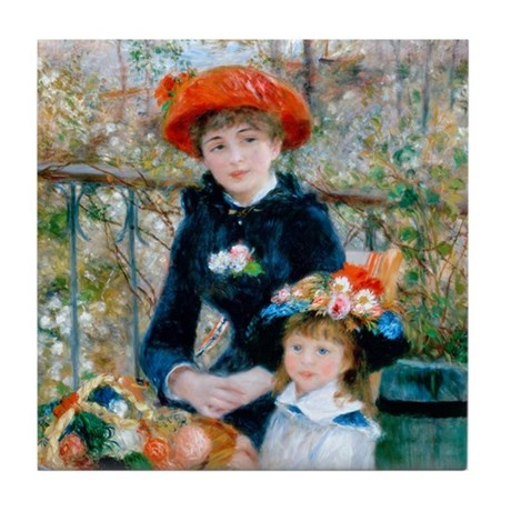 Renoir - Two Sisters Tile Coaster