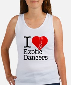 I Love Exotic Dancers Women's Tank Top