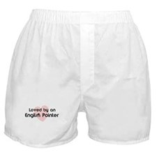 Loved by a English Pointer Boxer Shorts