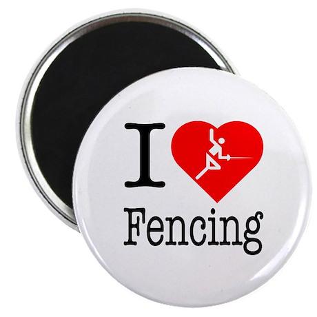 """I Love Fencing 2.25"""" Magnet (10 pack)"""