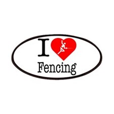 I Love Fencing Patches