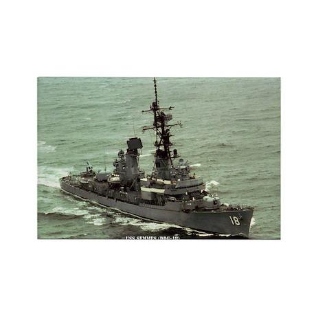 USS SEMMES Rectangle Magnet