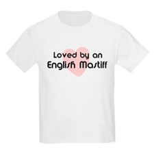 Loved by a English Mastiff Kids T-Shirt