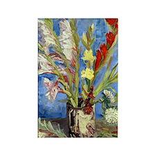 Van Gogh - Gladioli Rectangle Magnet