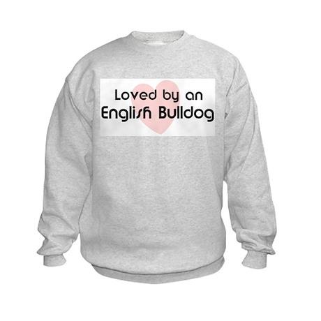 Loved by a English Bulldog Kids Sweatshirt