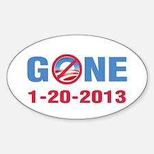 GONE 2013 Sticker (Oval)