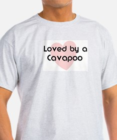 Loved by a Cavapoo Ash Grey T-Shirt