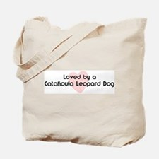 Loved by a Catahoula Leopard  Tote Bag