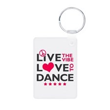 Live Love Dance Aluminum Photo Keychain