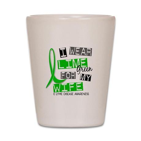 I Wear Lime 37 Lyme Disease Shot Glass