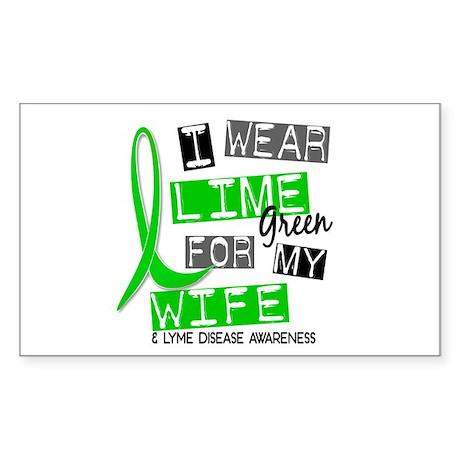 I Wear Lime 37 Lyme Disease Sticker (Rectangle)
