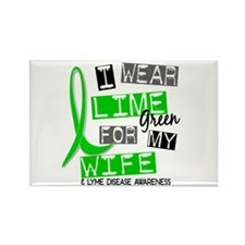 I Wear Lime 37 Lyme Disease Rectangle Magnet (10 p