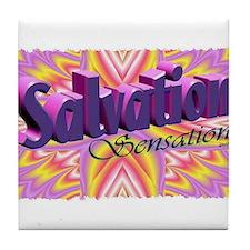 salvation sensation Tile Coaster
